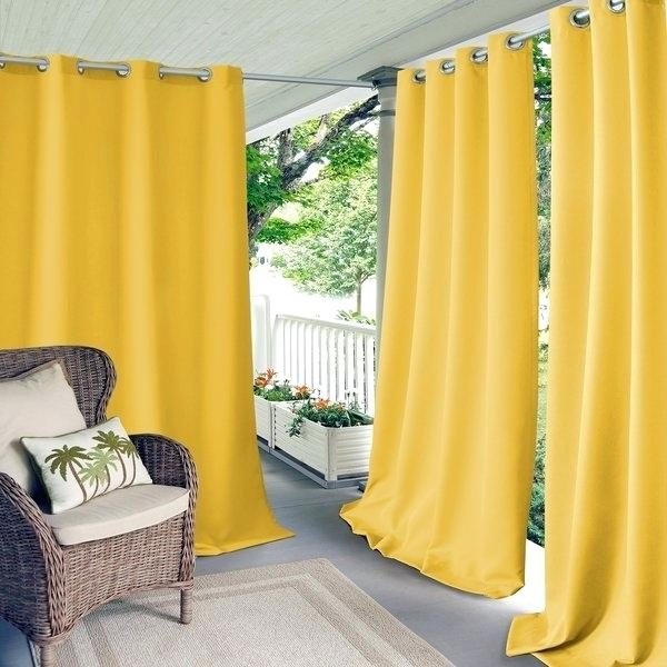 Outdoor Curtain Panels Clearance | Flisol Home Regarding Delano Indoor/outdoor Grommet Top Curtain Panel Pairs (View 31 of 45)