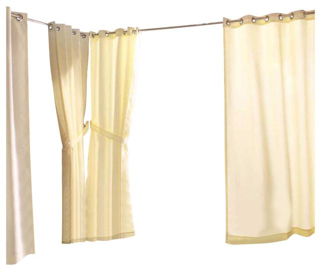 Outdoor Decor In & Outdoor Gazebo Solid Grommet Top Window Panel Natural Throughout Indoor/outdoor Solid Cabana Grommet Top Curtain Panel Pairs (#36 of 48)