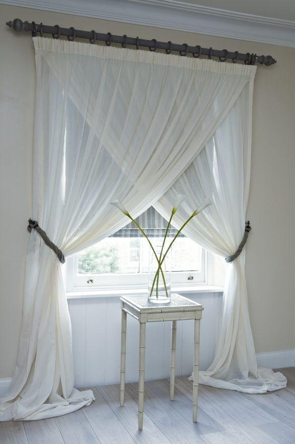 Overlapping Sheer Panelsunique Way To Hang Curtains For Double Layer Sheer White Single Curtain Panels (View 37 of 50)