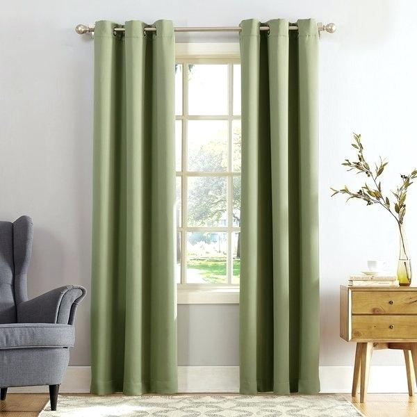 Overstock Drapes Sun Zero Grommet Blackout Single Curtain Within Signature French Linen Curtain Panels (#30 of 50)