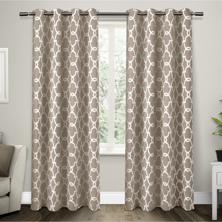 Overstock: Online Shopping – Bedding, Furniture, Electr Within The Curated Nomad Duane Jacquard Grommet Top Curtain Panel Pairs (#19 of 50)