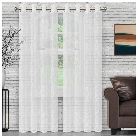 Overstock: Online Shopping – Bedding, Furniture For Montpellier Striped Linen Sheer Curtains (#34 of 50)