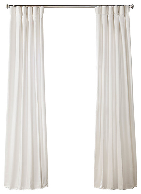 Pacific Pearl Solid Country Cotton Curtain Single Panel, 50W X 96L With Regard To Solid Cotton Curtain Panels (#34 of 47)