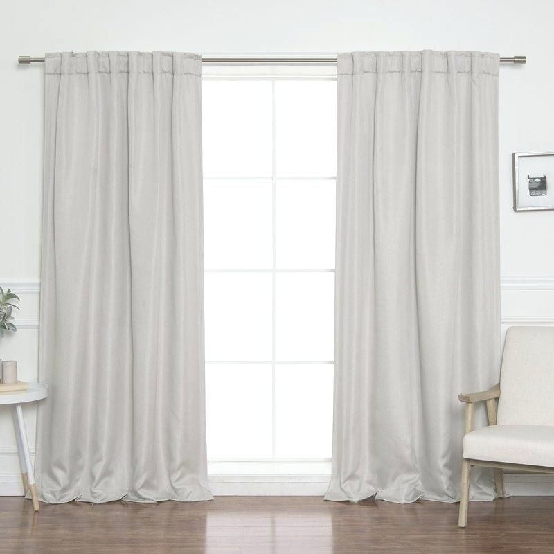 Pair Geometric Basket Weave Curtain Panels With Free Rod Intended For Solid Country Cotton Linen Weave Curtain Panels (#29 of 50)
