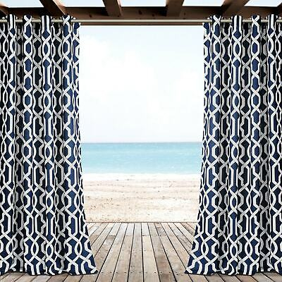 Pair Lush Decor Edward Moroccan Trellis Room Darkening Inside Edward Moroccan Pattern Room Darkening Curtain Panel Pairs (View 30 of 50)
