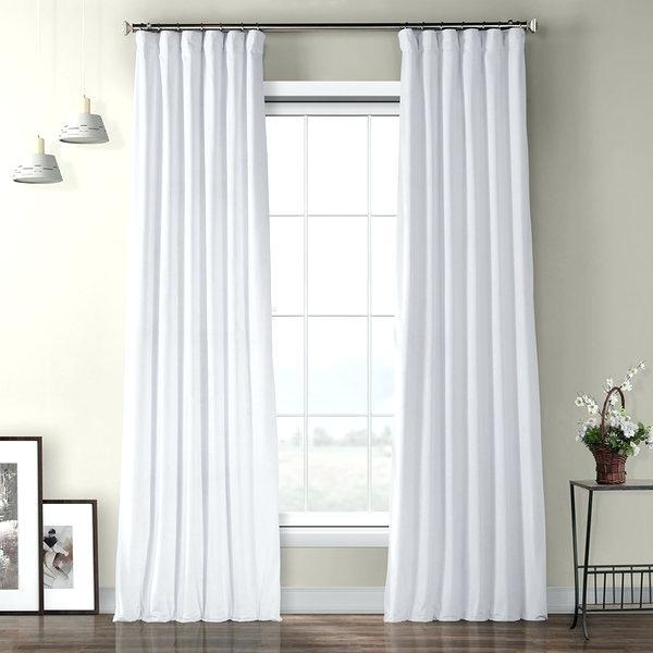 Pair Of White T Curtains Bedroom Living Room Off Velvet 90 Within Heritage Plush Velvet Single Curtain Panels (View 32 of 50)