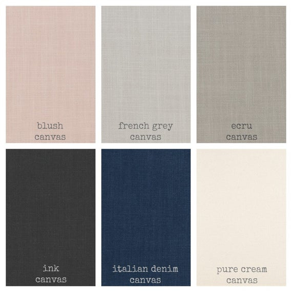 Pair Solid Curtains, Blush, French Grey, Ecru, Charcoal, Italian Denim Or  Pure Cream / Handmade And Ships Fast In Approximately 2 Weeks Throughout Solid Cotton True Blackout Curtain Panels (#37 of 50)