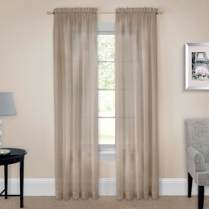 Pairs To Go 2 Pack Victoria Voile Window Curtains | Products Throughout Pairs To Go Victoria Voile Curtain Panel Pairs (#14 of 30)