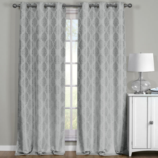 Popular Photo of Grommet Top Thermal Insulated Blackout Curtain Panel Pairs