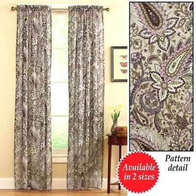 Paisley Sheer Curtains Floral Curtain From Collections Etc Intended For Floral Pattern Room Darkening Window Curtain Panel Pairs (View 33 of 44)