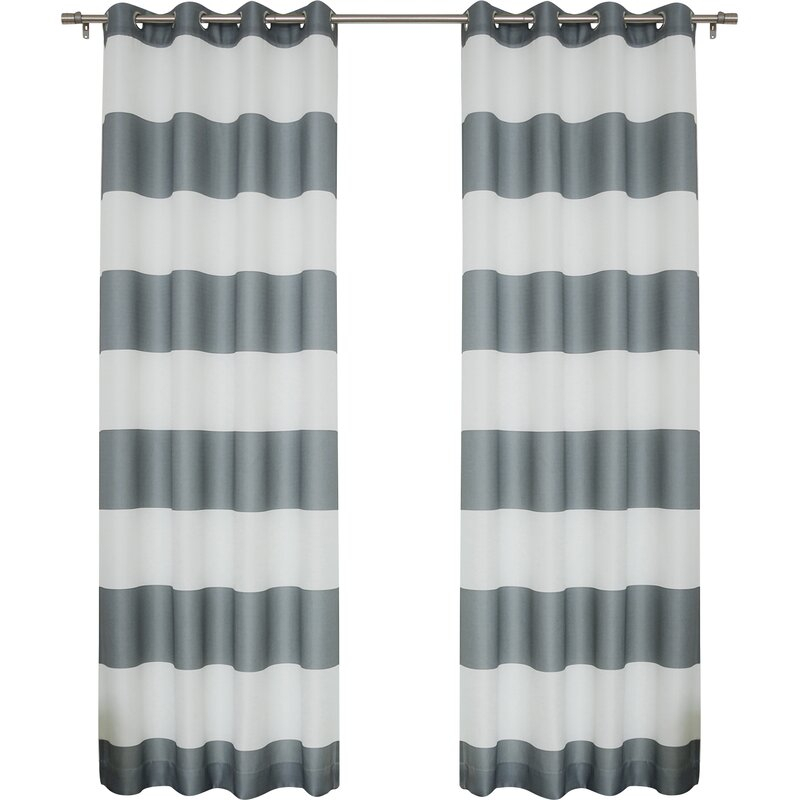 Paityn Rugby Curtain Panels For Inez Patio Door Window Curtain Panels (View 19 of 50)
