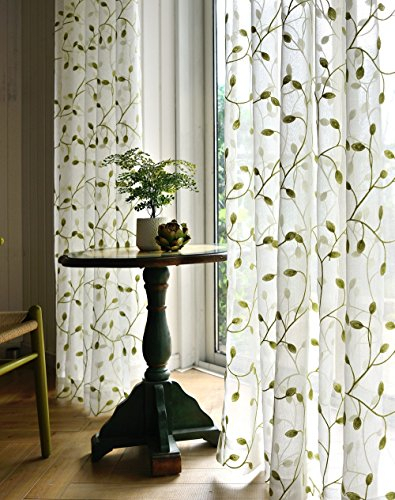 Panels – Tiyana Home Decor Ivy Leaf Embroidered Sheer Drapes Regarding Kida Embroidered Sheer Curtain Panels (#28 of 50)