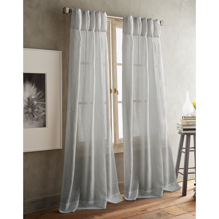 Paradox Pencil Pleat Solid Sheer Curtain Panels With Regard To Solid Cotton Pleated Curtains (#26 of 50)