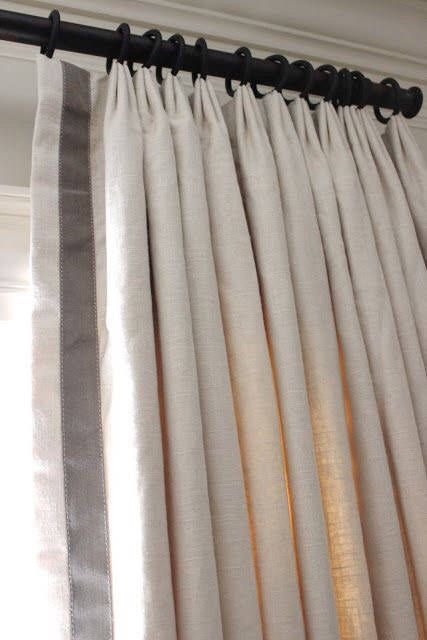 Parisian Pleated Drapes Pinch Pleats Solid Color Linen Regarding Solid Cotton Pleated Curtains (#27 of 50)