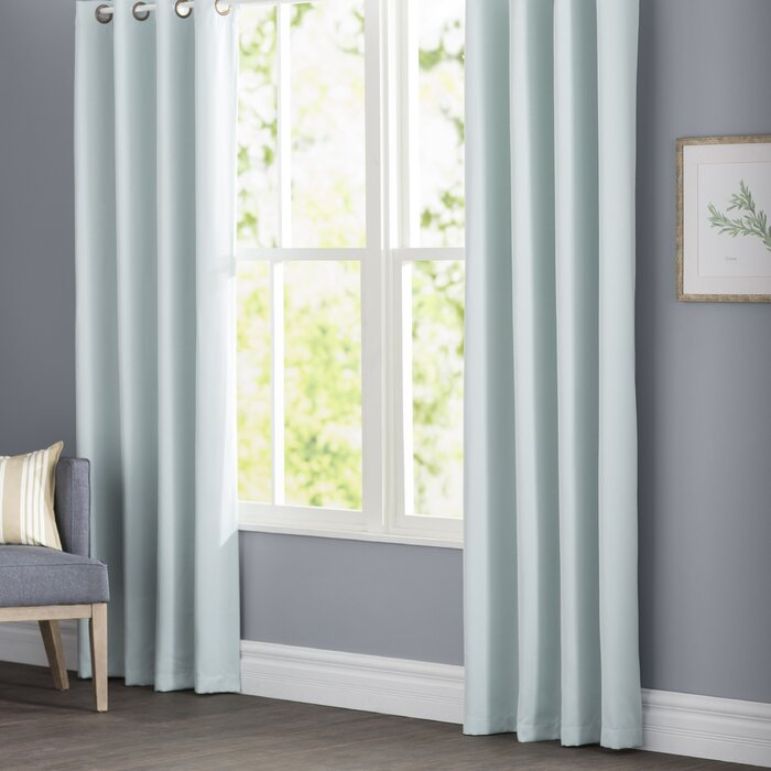 Parvin Basic Solid Blackout Thermal Grommet Curtain Panels Pertaining To Solid Insulated Thermal Blackout Curtain Panel Pairs (View 30 of 50)