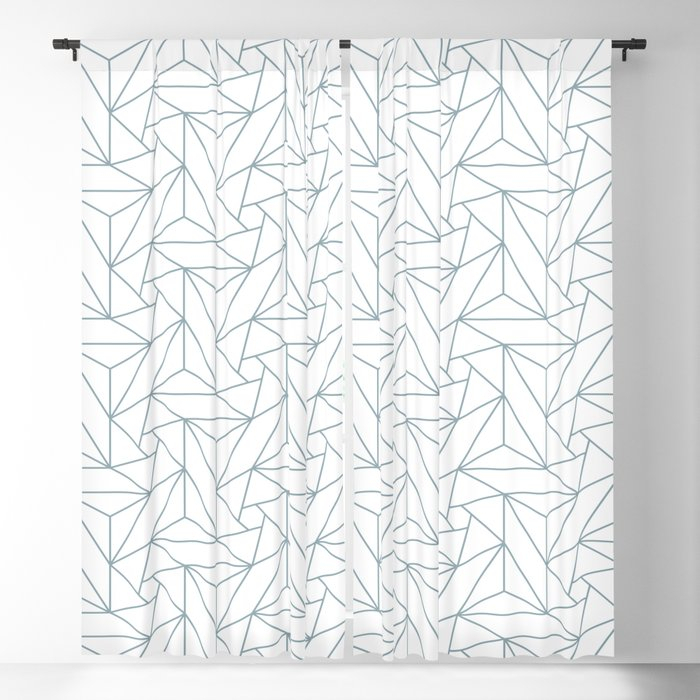 Pastel Blue & White Abstract Triangle Geometric Mosaic Shape Pattern Pairs  To 2020 Color Of The Year Blackout Curtainpipafineart Within Abstract Blackout Curtain Panel Pairs (View 34 of 46)