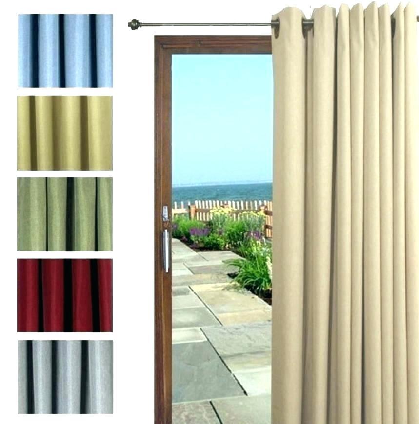 Patio Curtain Panel Grommet Top Indoor Outdoor Door Window Throughout Patio Grommet Top Single Curtain Panels (View 37 of 38)