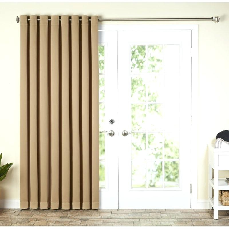 Patio Curtain Panel Ultimate Blackout Grommet Top Patio Intended For Patio Grommet Top Single Curtain Panels (#23 of 38)