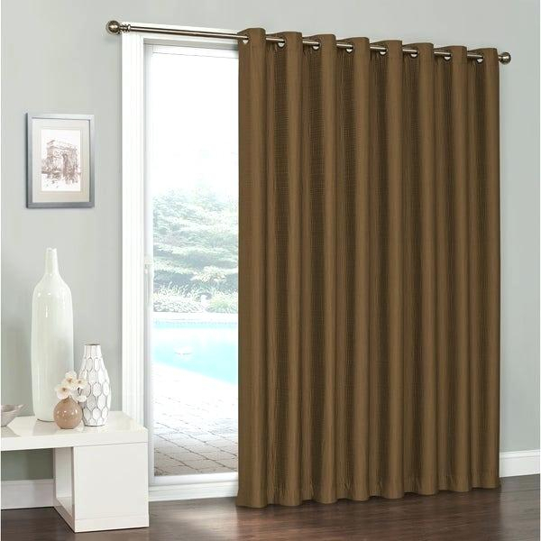 Patio Door Curtain – Fakesartorialist Throughout Grommet Blackout Patio Door Window Curtain Panels (View 28 of 50)
