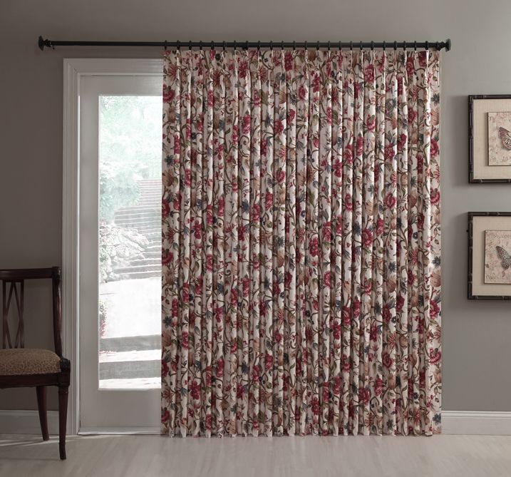 Patio Door Thermal Insulated Drapes – Sliding Door Pinch With Patio Grommet Top Single Curtain Panels (#30 of 38)
