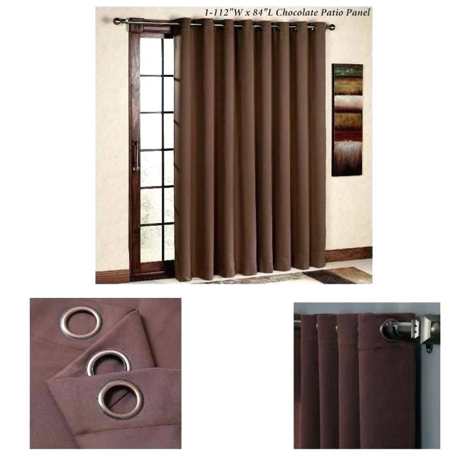 Patio Panel Curtain – Knowyourbasics Throughout Grommet Blackout Patio Door Window Curtain Panels (View 31 of 50)