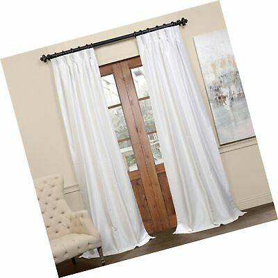 Pdch Kbs2Bo 96 Fp Pleated Blackout Vintage Textured Faux Dupioni Silk  Curtain 695637467434 | Ebay Throughout Vintage Textured Faux Dupioni Silk Curtain Panels (#43 of 50)