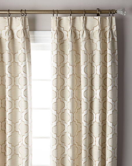 Pearl 3 Fold Pinch Pleat Curtain Panel 132 Inside Solid Cotton Pleated Curtains (#28 of 50)