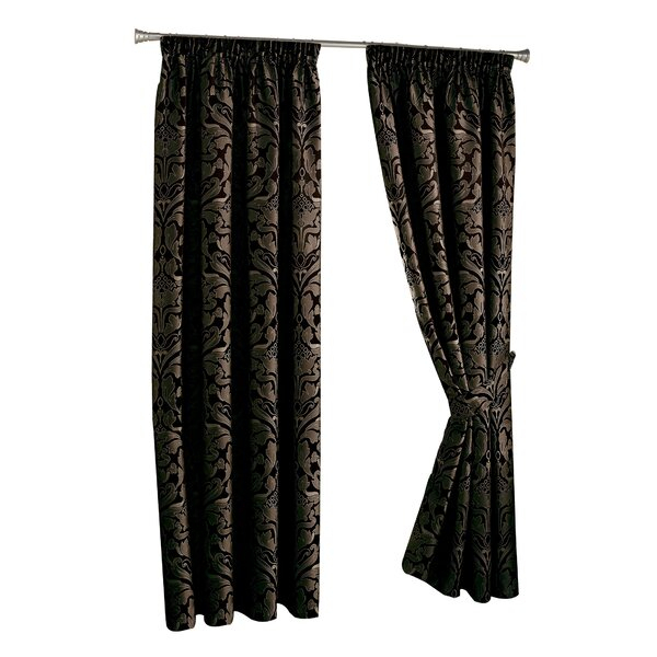Pencil Pleat Curtains Throughout Sateen Woven Blackout Curtain Panel Pairs With Pinch Pleat Top (#20 of 40)
