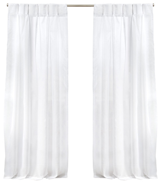 "Penny Sheer Pinch Pleat Curtain Panel Pair, Winter Silver, 108"" With Penny Sheer Grommet Top Curtain Panel Pairs (#42 of 49)"