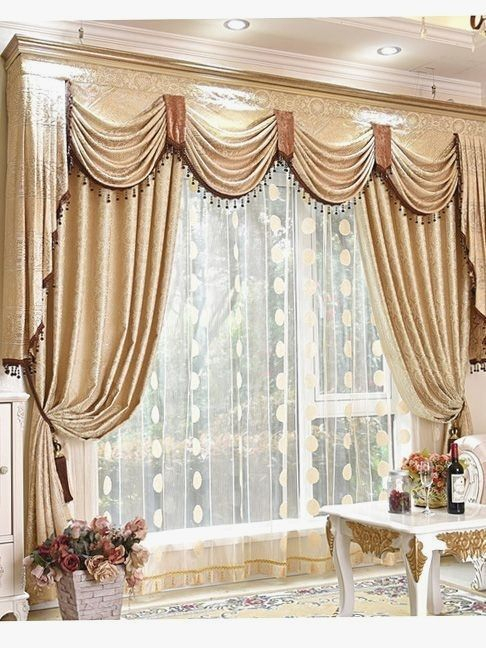 Perfect Concept Waterfall Valance Curtain Set – 63.141. (#19 of 50)