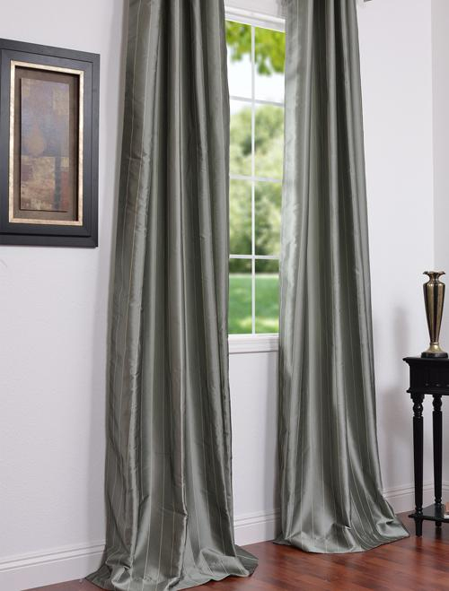 Perfect Faux Silk Curtains And Solid Faux Silk Taffeta With Regard To Solid Faux Silk Taffeta Graphite Single Curtain Panels (#40 of 50)