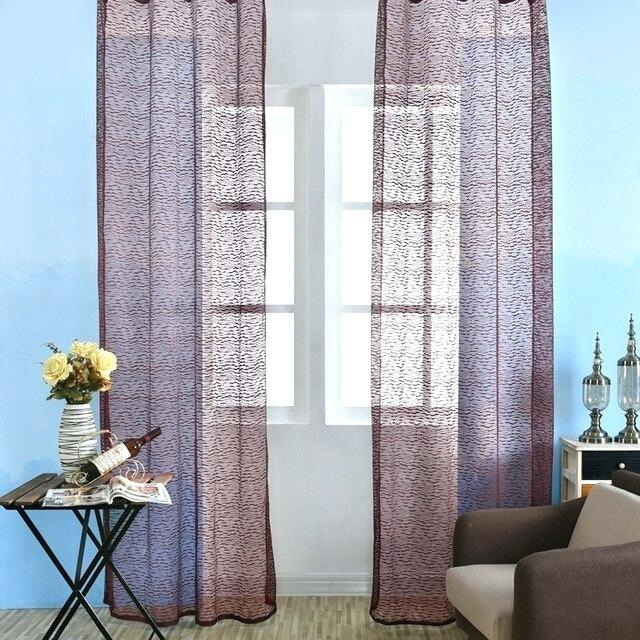 Picture Window Curtains – Avidcor In Bark Weave Solid Cotton Curtains (View 33 of 50)