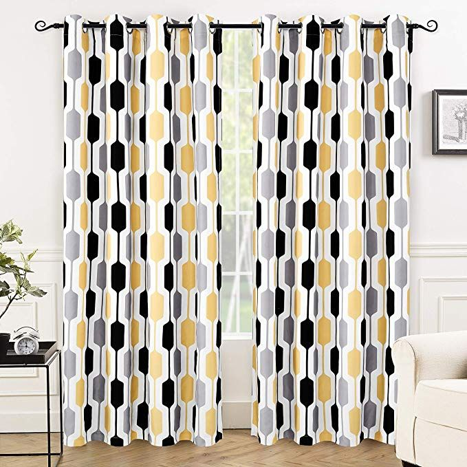 Pin On Curtains In Mid Century Geo Room Darkening Window Curtain Panel Pairs (View 2 of 43)
