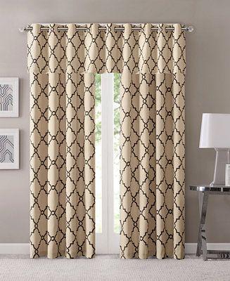 Pin On Curtains Regarding Fretwork Print Pattern Single Curtain Panels (View 3 of 46)