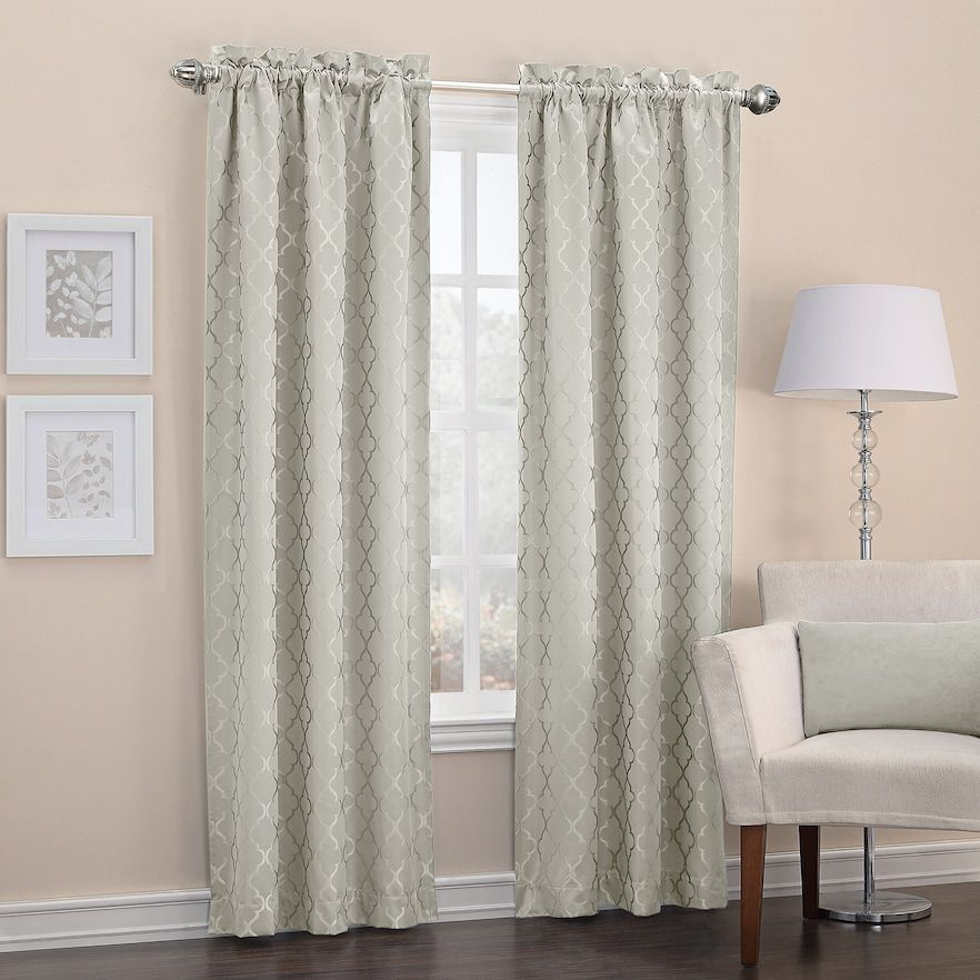 Pin On Products Inside Elrene Mia Jacquard Blackout Curtain Panels (View 31 of 37)