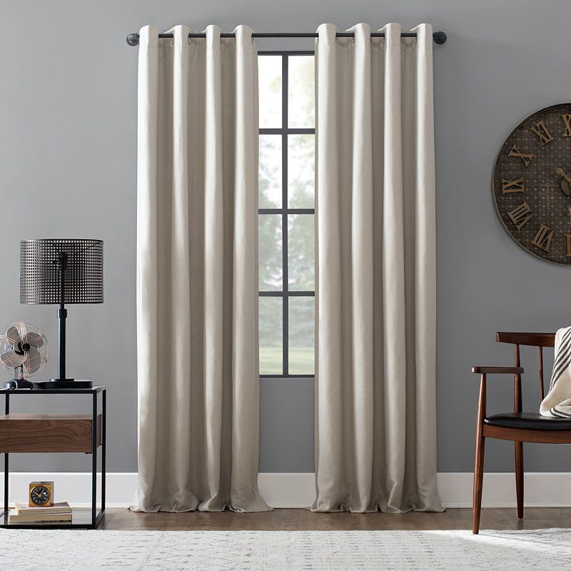 Popular Photo of Cyrus Thermal Blackout Back Tab Curtain Panels