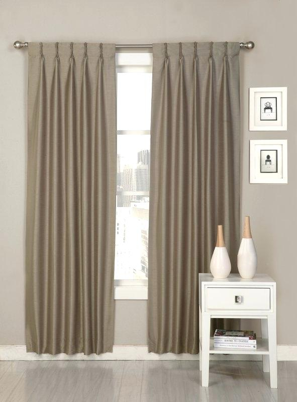 Pinch Pleat Curtain – Infoindiatour For Double Pinch Pleat Top Curtain Panel Pairs (#31 of 50)