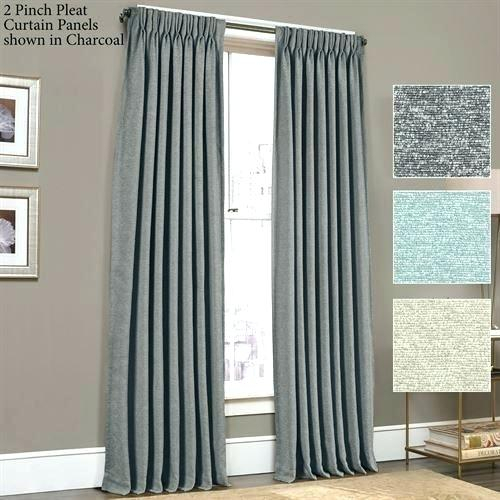 Pinch Pleat Curtains Decorating Good Looking Curtain Panel Within Signature Pinch Pleated Blackout Solid Velvet Curtain Panels (View 21 of 50)