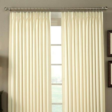 Pinch Pleat Curtains Pleated Drapes Drapery Curtain Hooks Inside Double Pinch Pleat Top Curtain Panel Pairs (#34 of 50)