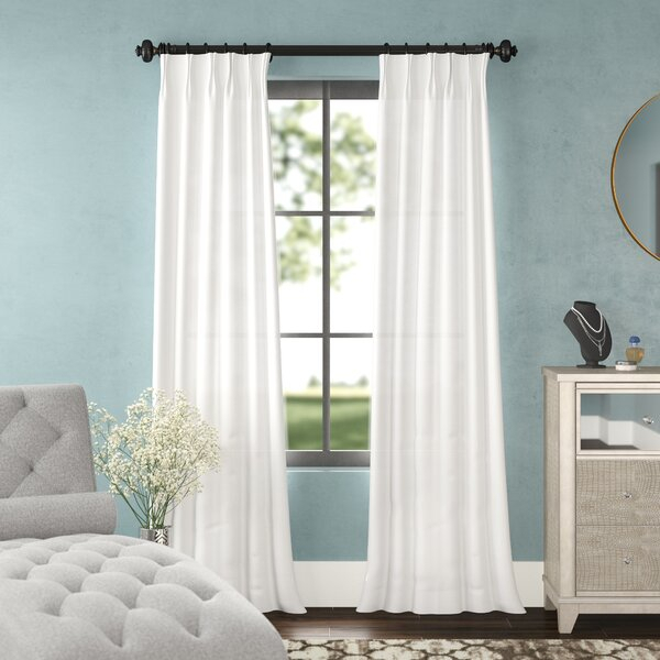 Pinch Pleat Faux Silk Drapes | Wayfair Throughout Double Pinch Pleat Top Curtain Panel Pairs (#38 of 50)