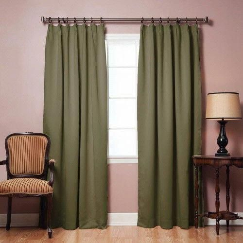 Pinch Pleat Style Thermal Insulated Blackout Curtains 42'w X Inside Thermal Insulated Blackout Curtain Pairs (View 13 of 50)