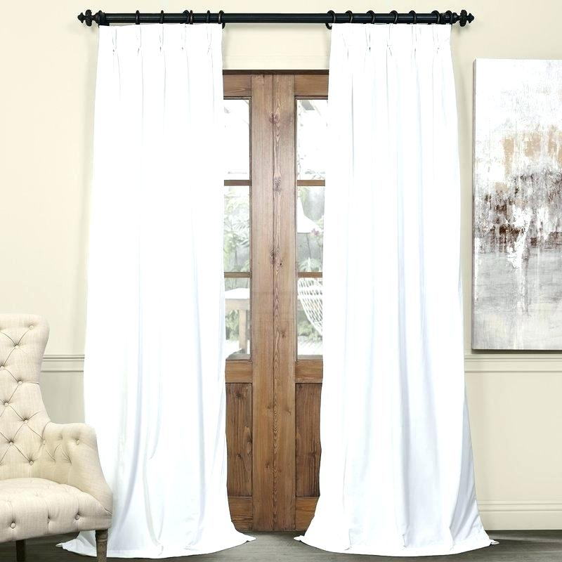 Pinch Pleated Blackout Curtains Pleat Drapes Thermal Solid Within Signature Pinch Pleated Blackout Solid Velvet Curtain Panels (View 14 of 50)