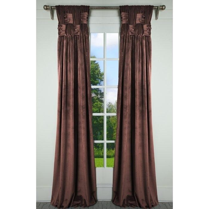 Pinch Pleated Panels Pleat You Design These Pay 1 2 Down Regarding Signature Pinch Pleated Blackout Solid Velvet Curtain Panels (View 48 of 50)