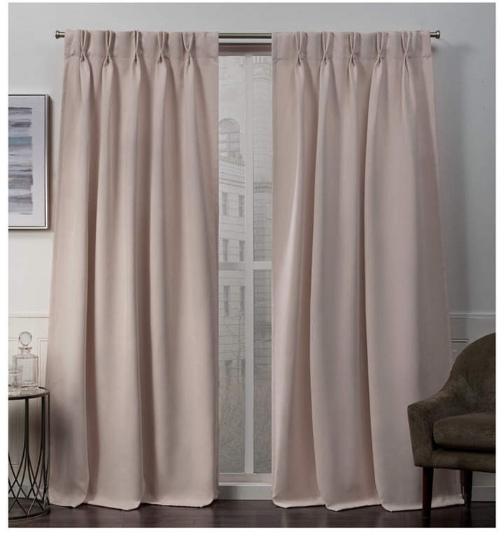 Pink Blackout Curtains – Shopstyle Intended For Sateen Twill Weave Insulated Blackout Window Curtain Panel Pairs (View 21 of 29)