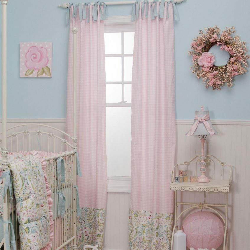 Pink Nursery Curtains – Hustleandflow Regarding Ombre Stripe Yarn Dyed Cotton Window Curtain Panel Pairs (View 21 of 31)