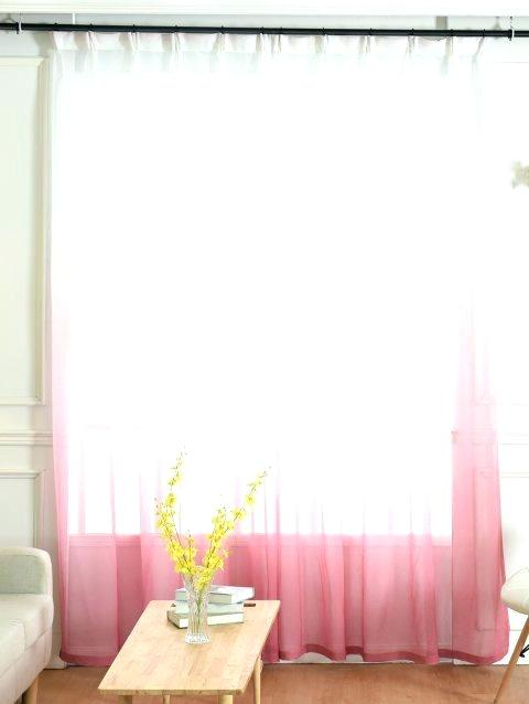 Pink Ombre Curtains L Pink Sheer Faux Linen Rod Pocket In Ombre Faux Linen Semi Sheer Curtains (View 39 of 50)