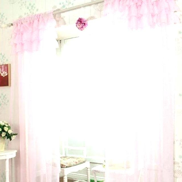 Pink Sheer Curtains Aurora Home Mix And Match Blackout Intended For Mix And Match Blackout Blackout Curtains Panel Sets (#42 of 50)