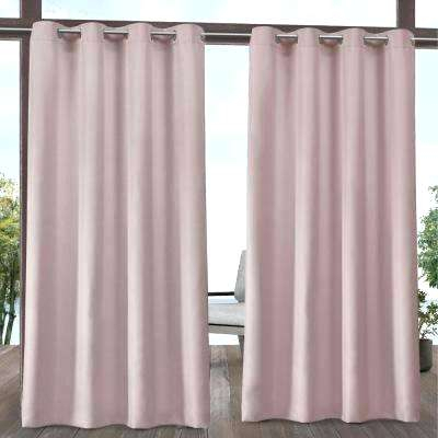 Pink Striped Curtains With Regard To Ocean Striped Window Curtain Panel Pairs With Grommet Top (#22 of 41)