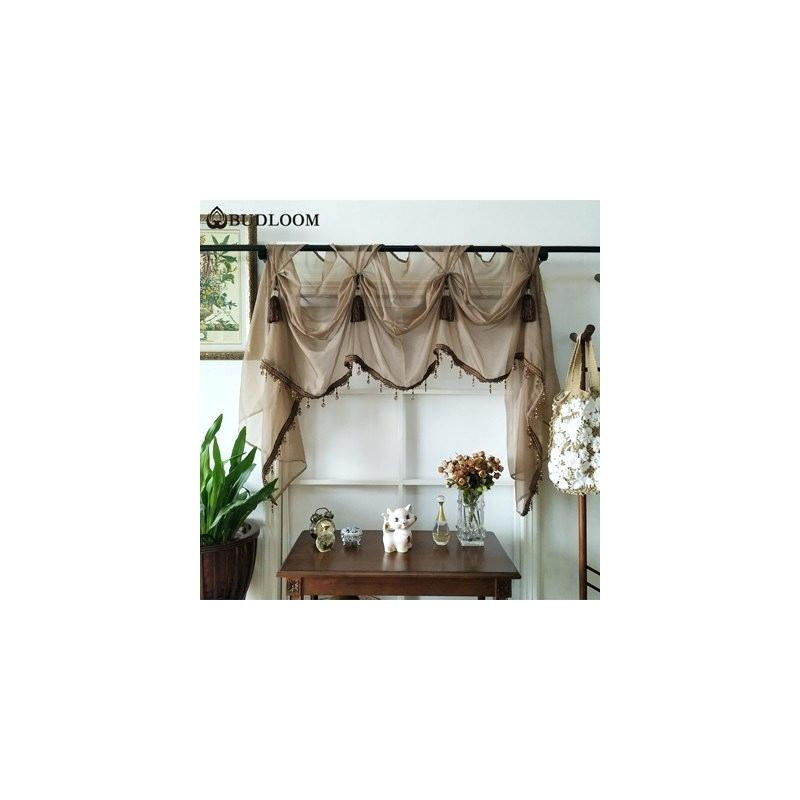 Pink Valance Curtains Style Luxury Tulle For Living Room In Infinity Sheer Rod Pocket Curtain Panels (#30 of 50)