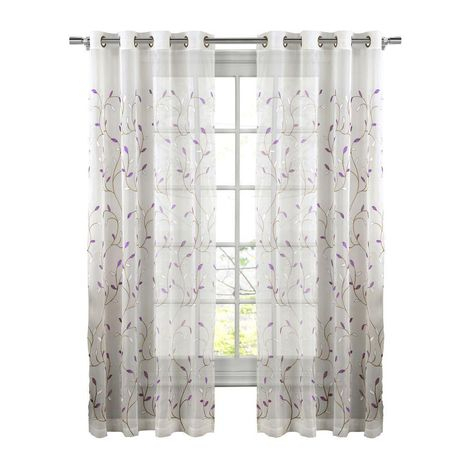 Pinterest – Пинтерест Throughout Wavy Leaves Embroidered Sheer Extra Wide Grommet Curtain Panels (#29 of 50)
